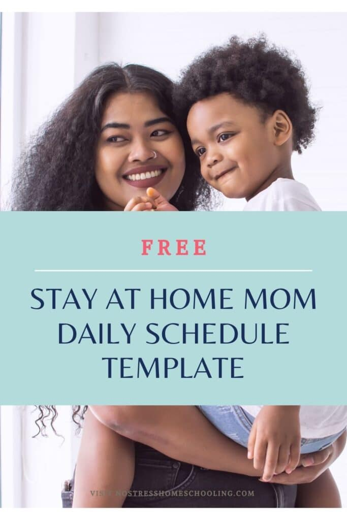 pic of FREE STAY AT HOME MOM DAILY SCHEDULE TEMPLATE