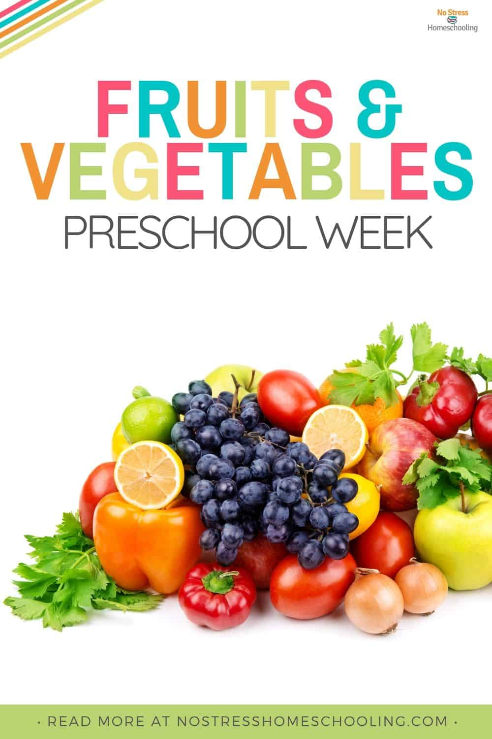 These fruits and vegetables preschool theme worksheets are sure to be a hit with your kids. There is even a fruits book list included!