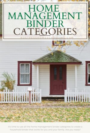 Combining All the Home Management Binder Categories and Other Tips
