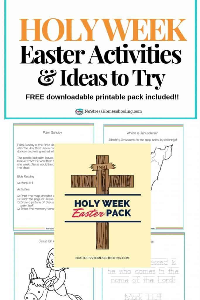 Looking for a way to help your kids reflect on Easter Week/ Holy Week? The Holy Week Easter Pack is designed to help busy families and their kids. #holyweekactivitiesforkids #holyweekideas #holyweekfreeprintables
