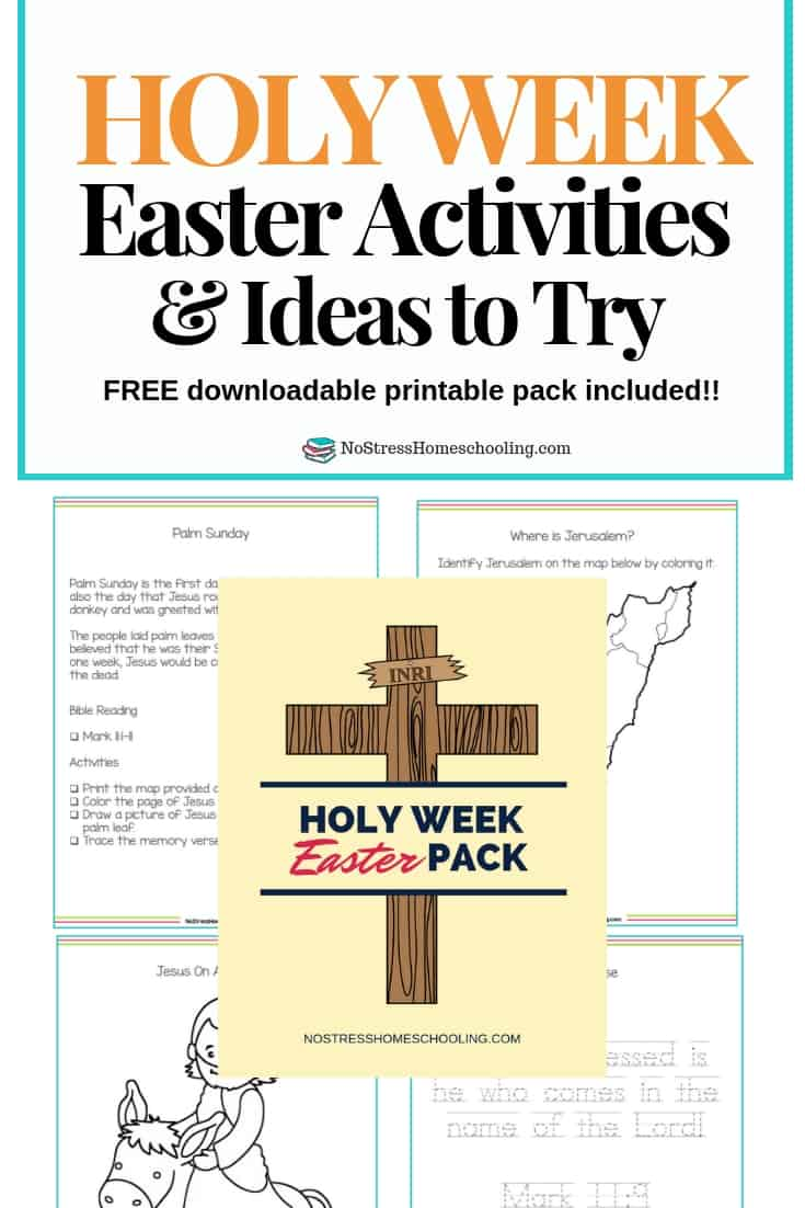 Looking for a way to help your kids reflect on Easter Week/ Holy Week? The Holy Week Easter Pack is designed to help busy families and their kids.