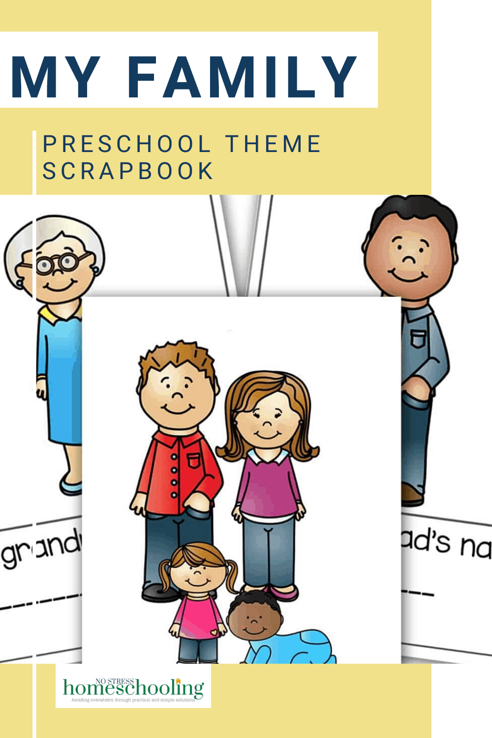 pic showing my family preschool theme scrapbook