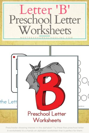 Preschool Letter Worksheets: B