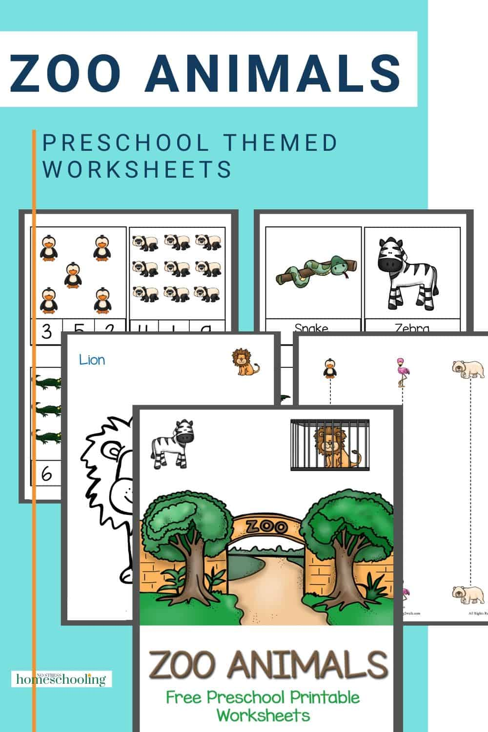 Zebra, Hippo and Crocodiles- how many zoo animals can your preschooler name? Try these free preschool printable worksheets