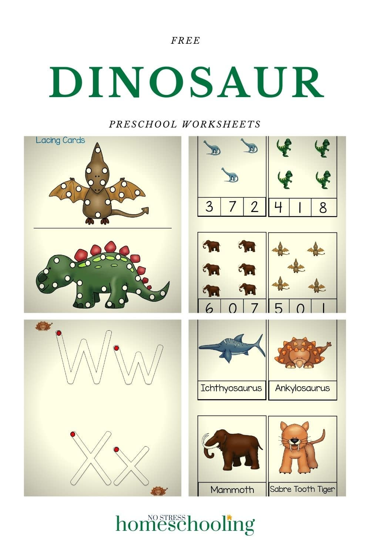 dinosaur preschool worksheets