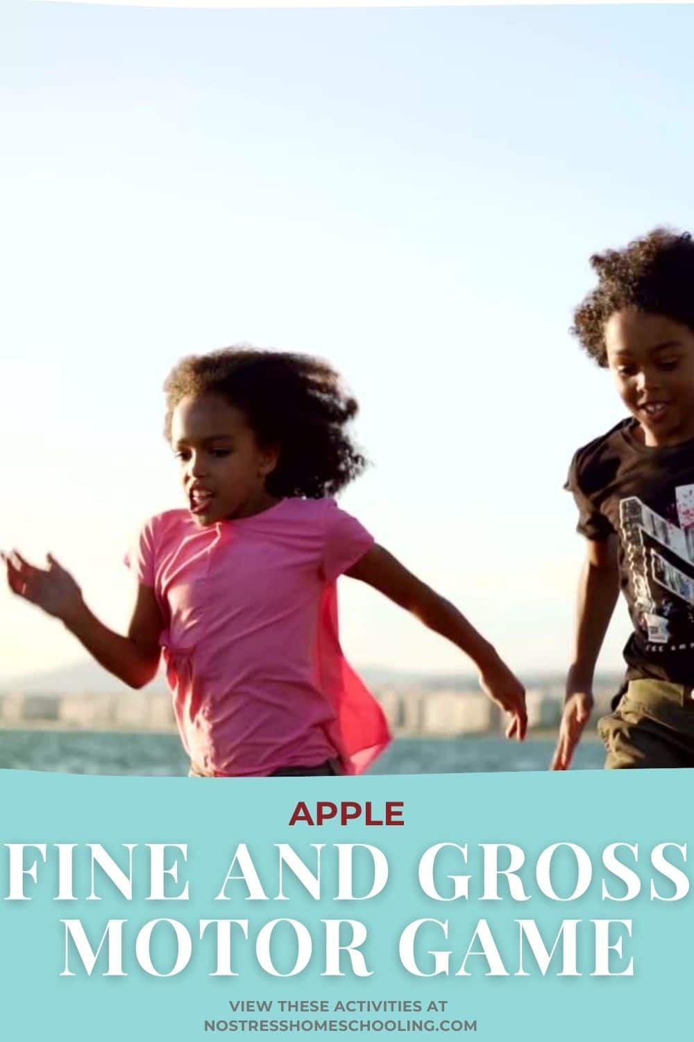 apple fine and gross motor game image