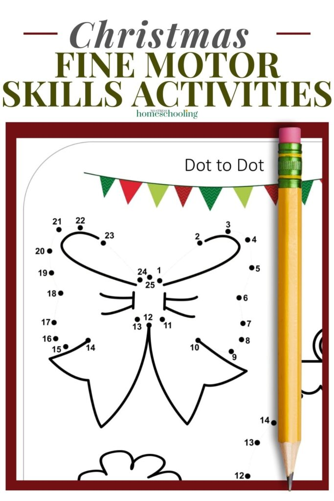 image of christmas fine motor skills activities - dot to dot