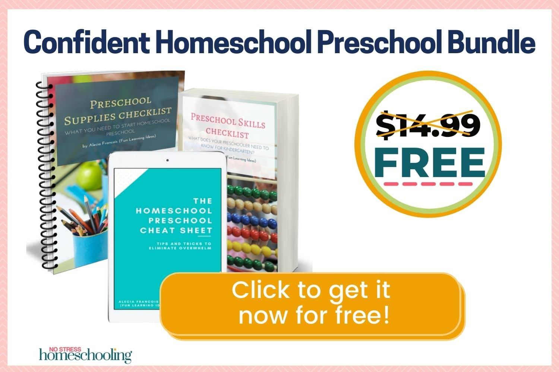 image of confident homeschool preschool bundle for free