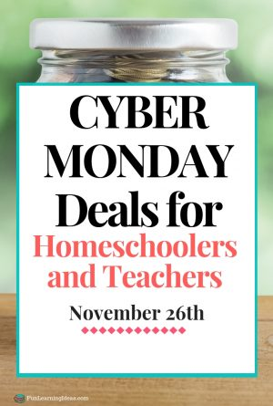 Cyber Monday Deals for Homeschoolers