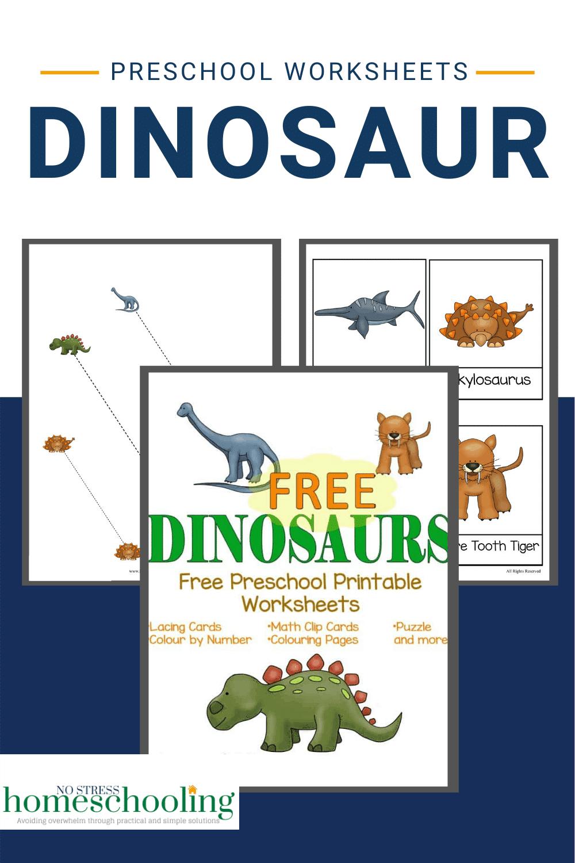 pic showing dinosaur preschool worksheets