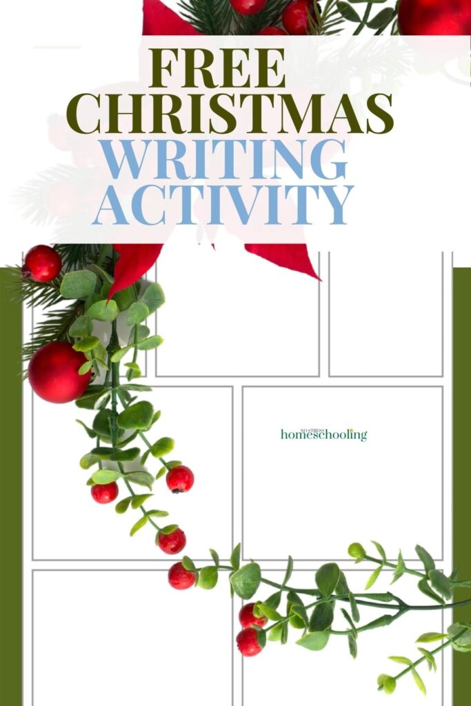image of christmas writing activity - comic strip example