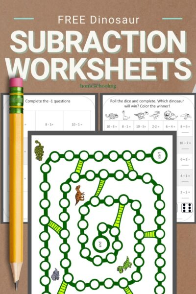 picture of dinosaur subtraction worksheets for kindergarten