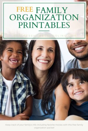 Family Organization Printables for Your Home Management Binder