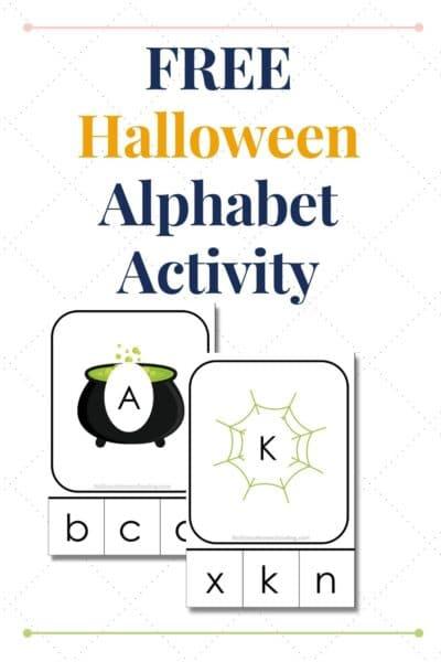 free halloween alphabet activity- alphabet clip cards image