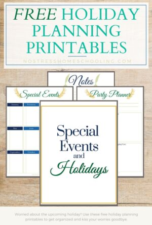 Free Holiday Planning Printables (and Special Events Planning)