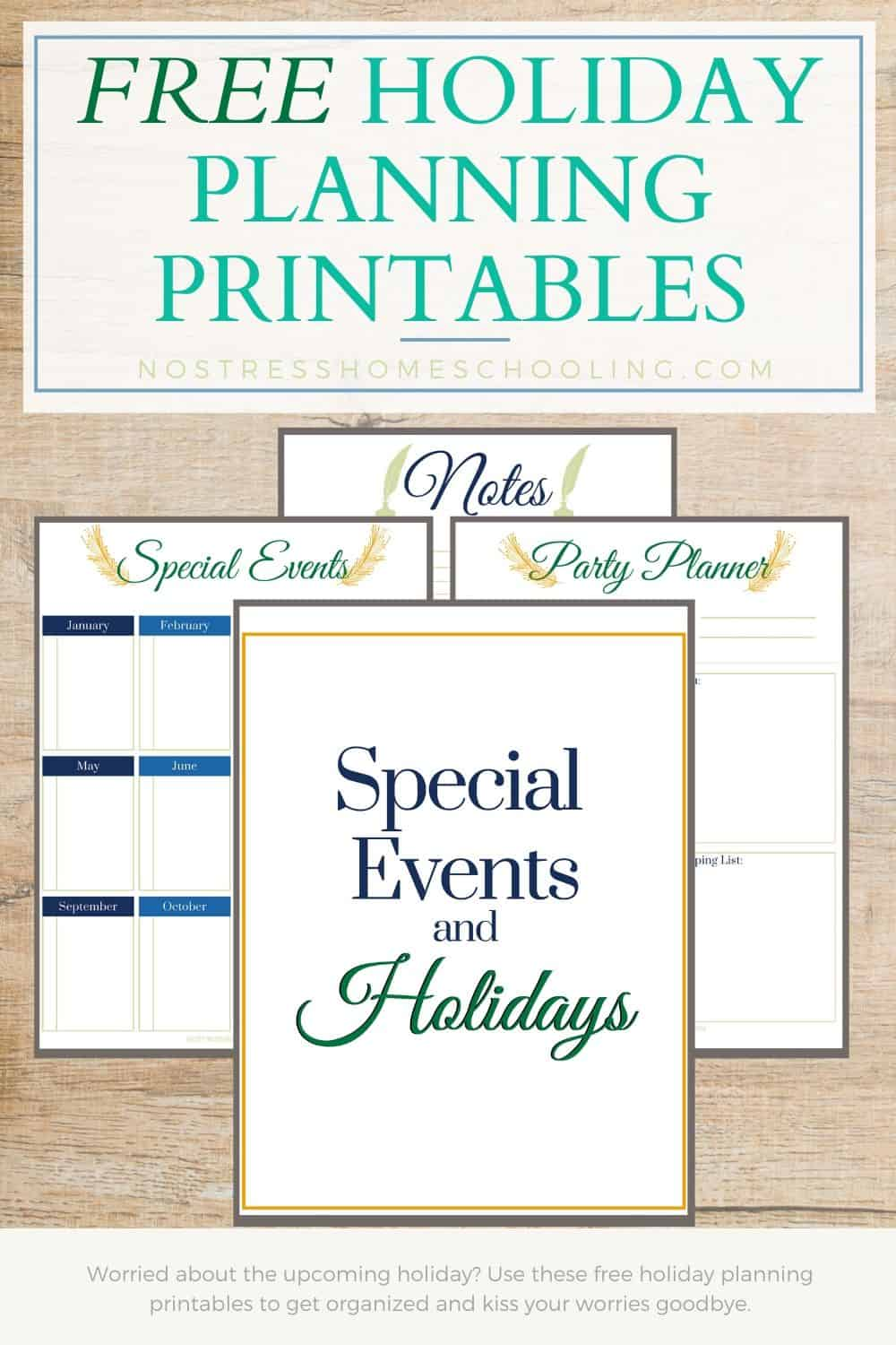 Worried about the upcoming holiday? Use these free holiday planning printables to get organized and kiss your worries goodbye.