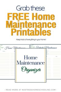 Ready to keep track of everything in your home? Grab this free home maintenance pack
