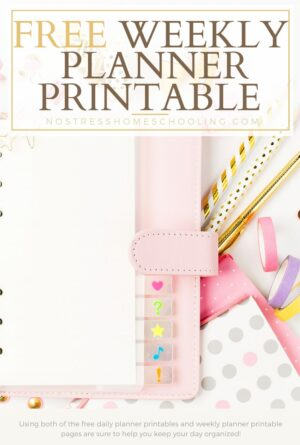 Free Weekly Planner Printable and Daily Planning Pages