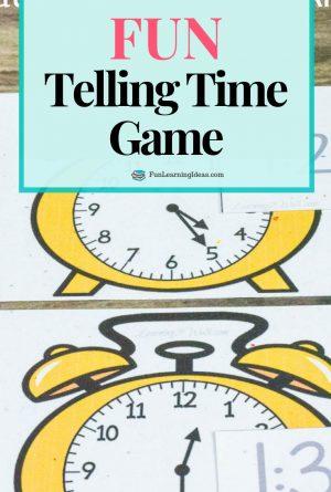 Fun Telling Time Game- Matching Digital and Analog Clocks