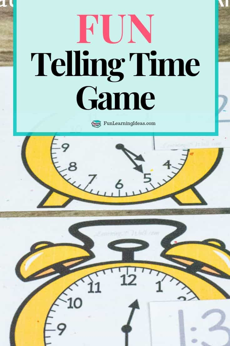Looking for a fun telling time game for your kids? Use these analog and digital clock printable matching cards as a fun game for kindergarten and grade 1. #tellingtimegame #funtellingtimegame #tellingtime