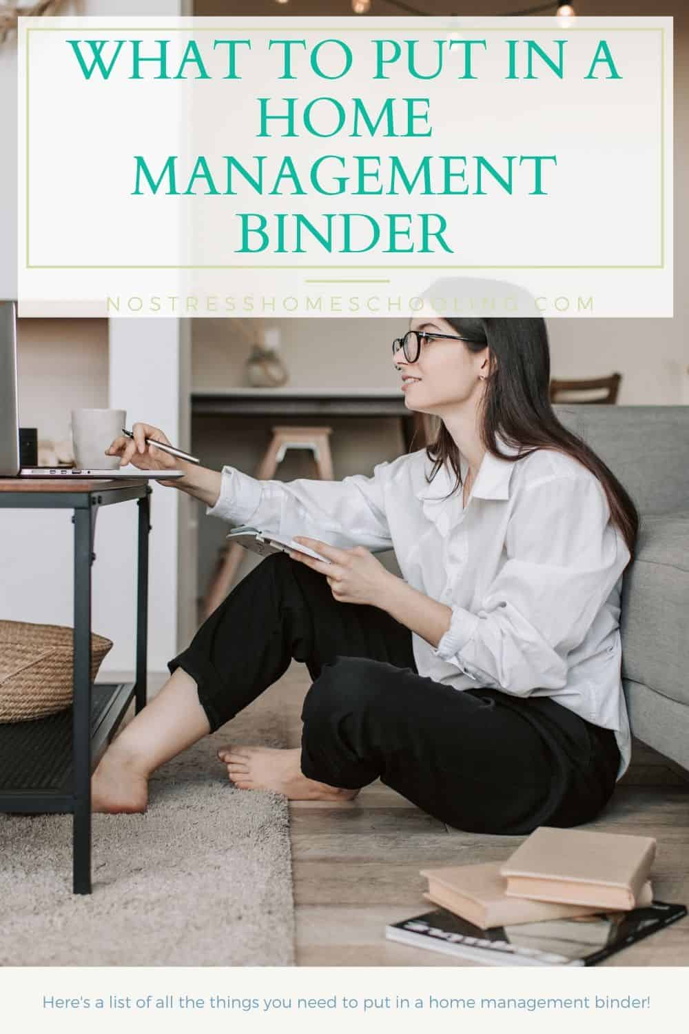 Ever wondered what a home management binder was or what to put it in? This post will help you put your own home binder together.