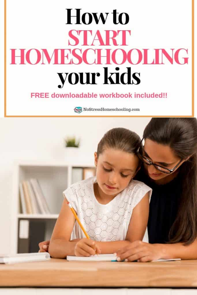 Curious about how to start homeschooling your kids? Read this post and download the free workbook to get started!#howtostarthomeschooling #howtostarthomeschool #starthomeschool