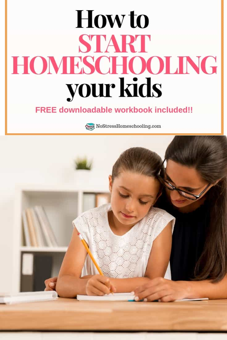 Curious about how to start homeschooling your kids? Read this post and download the free workbook to get started!