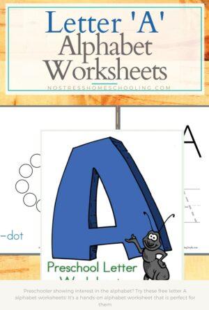 Hands On Letter A Alphabet Worksheets
