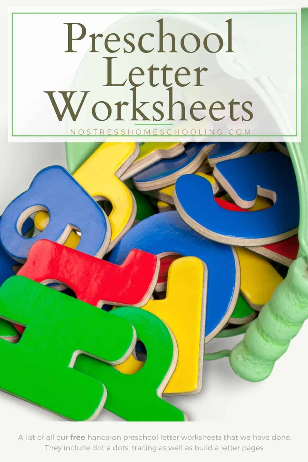 A list of all our free hands-on preschool letter worksheets that we have done. They include dot a dots, as well as tracing