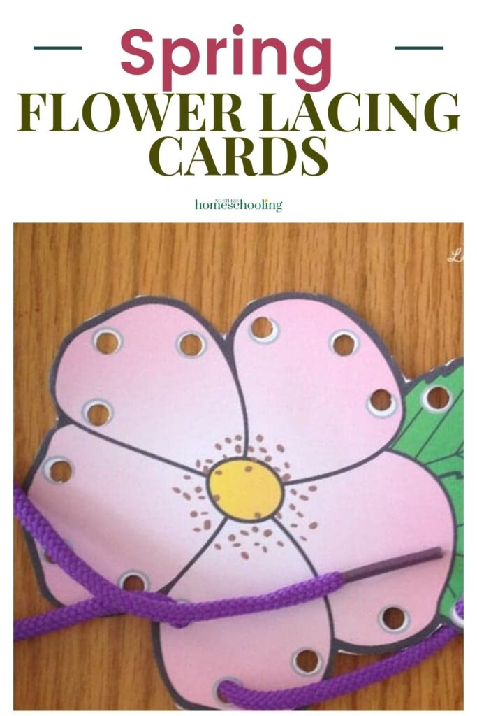 spring fine motor lacing cards image