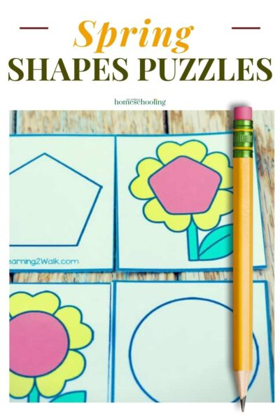 image of spring shapes puzzle