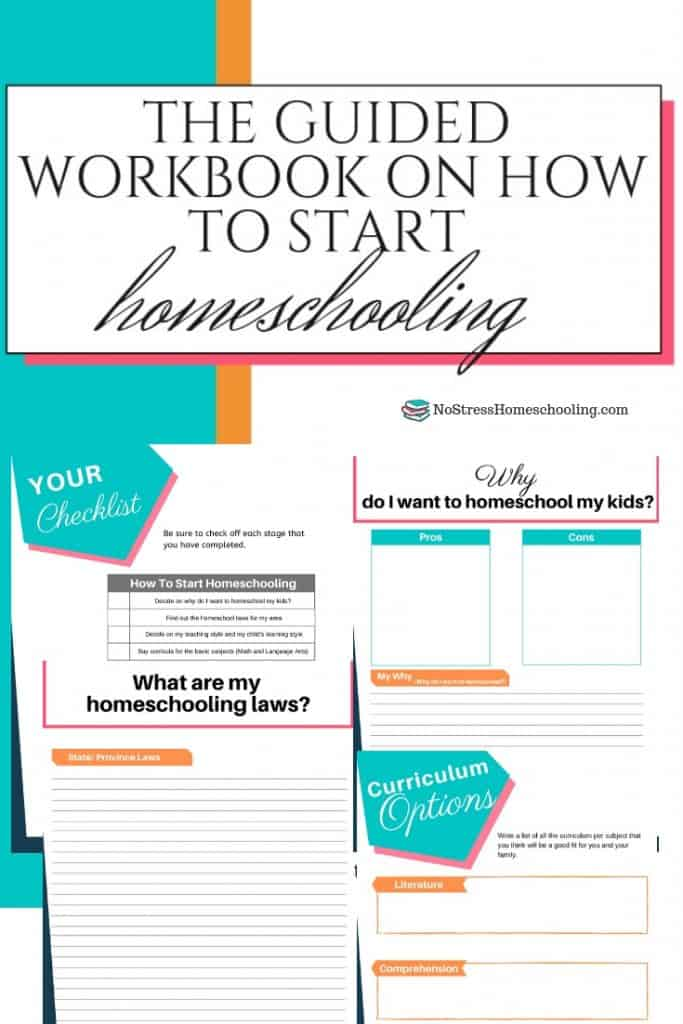 Curious about how to start homeschooling your kids? Download this free workbook to get started!#howtostarthomeschooling #howtostarthomeschool #starthomeschool
