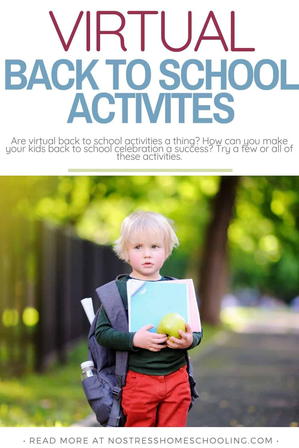 Are virtual back to school activities a thing? How can you make your kids back to school celebration a success? Try a few or all of these activities.