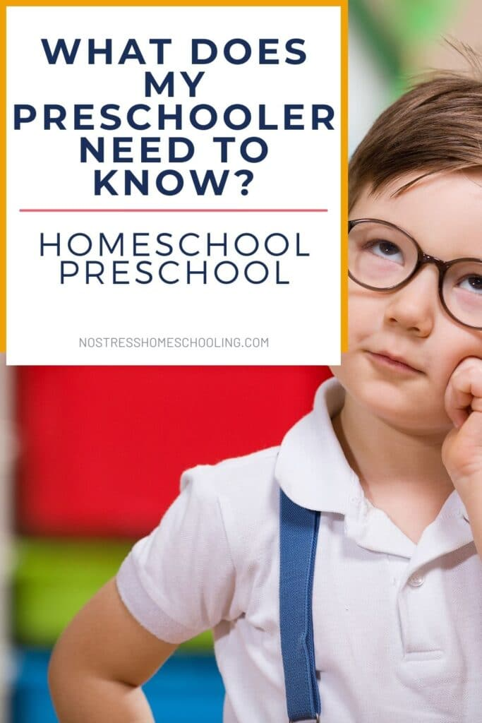 homeschool preschool- what does my preschooler need to know pic 1