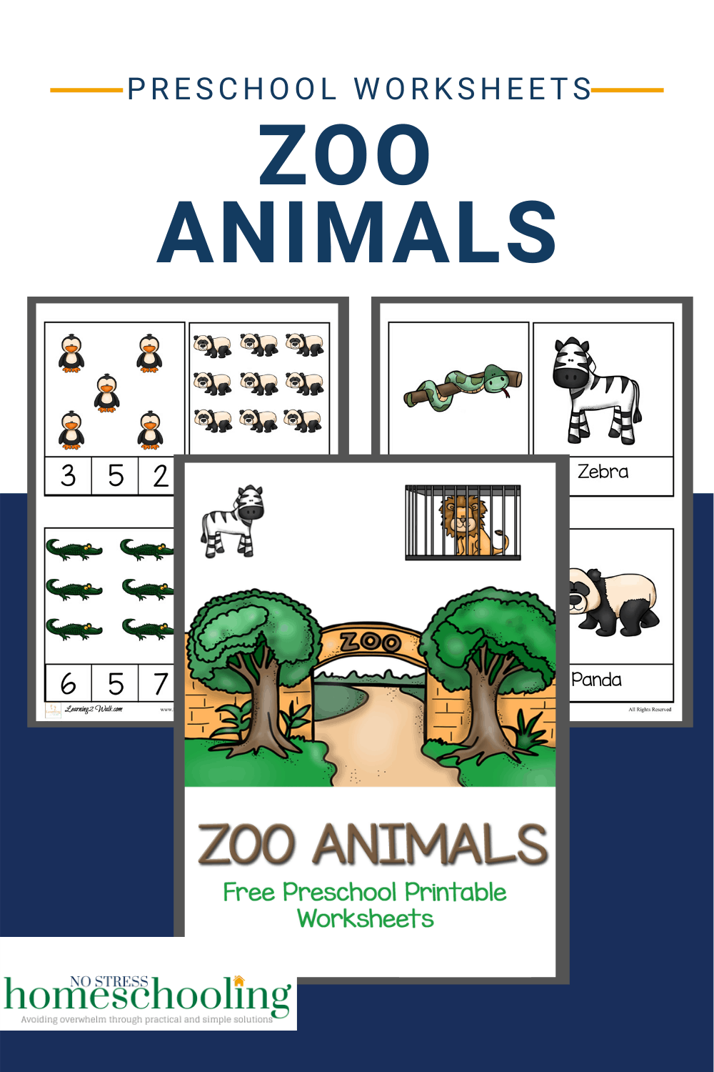 pic showing printable zoo animals worksheets